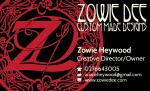 Zowie Dee Custom Made Designs – Business CardDesign