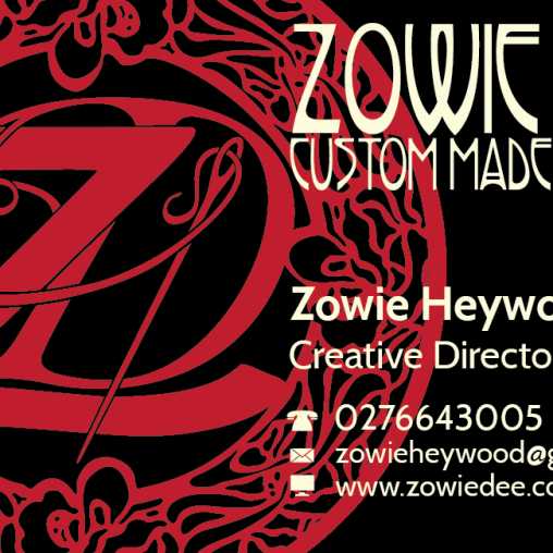 Zowie Dee Custom Made Designs - Business Card Design