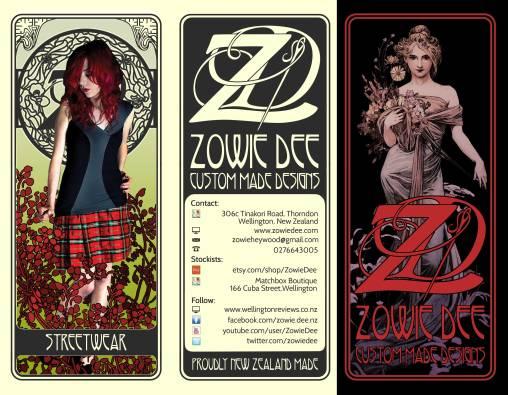 Zowie Dee Custom Made Designs - Flyer Design - Cover