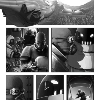 Comic Book Project Page 21 Grayscale