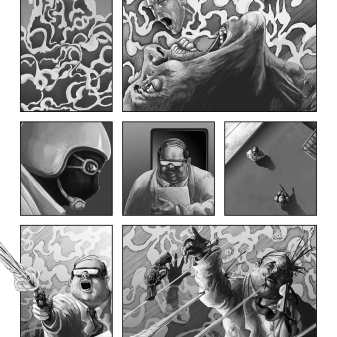 Comic Book Project Page 25 Grayscale
