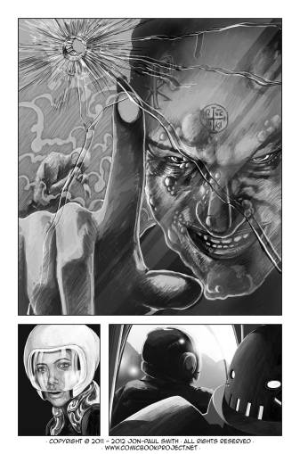 Comic Book Project Page 26 Grayscale