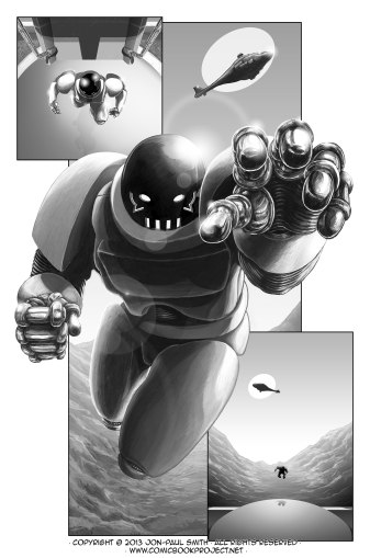 Comic Book Project Page 27 Grayscale