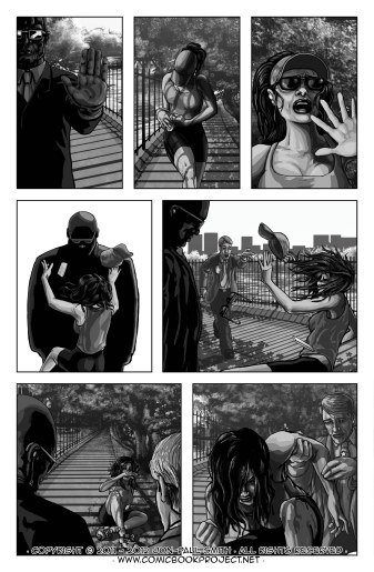 Comic Book Project Page 13 Grayscale