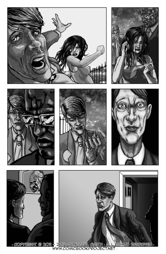 Comic Book Project Page 14 Grayscale