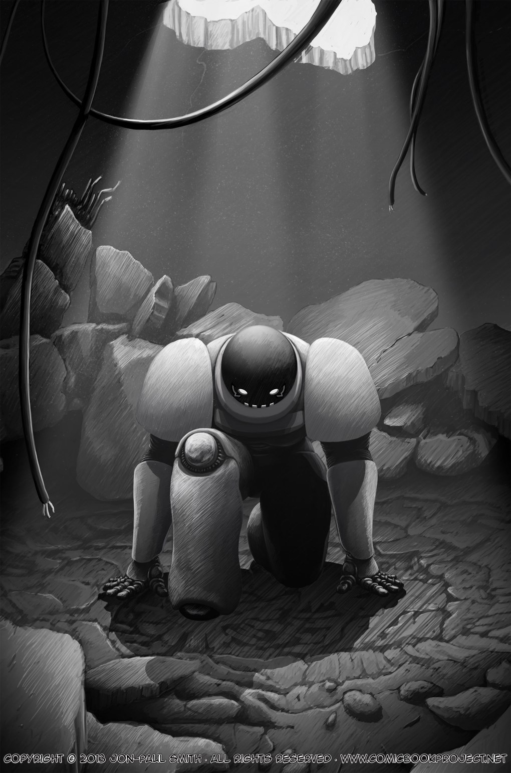 Comic Book Project Page 28 Grayscale