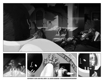 Comic Book Project Pages 29+30 Grayscale
