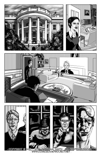 Comic Book Project Page 9 Grayscale