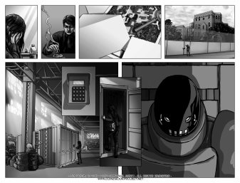 Comic Book Project Pages 15+16 Grayscale
