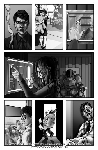 Comic Book Project Page 17 Grayscale